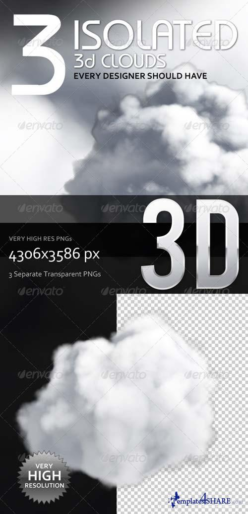 GraphicRiver 3 Isolated 3D Clouds