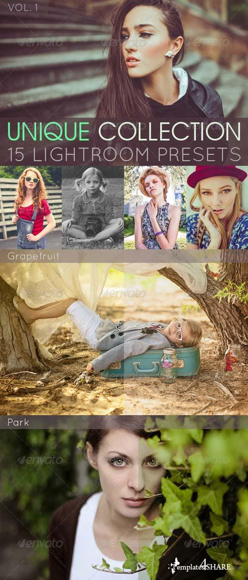 GraphicRiver 15 Unique Lightroom Presets Vol. 1