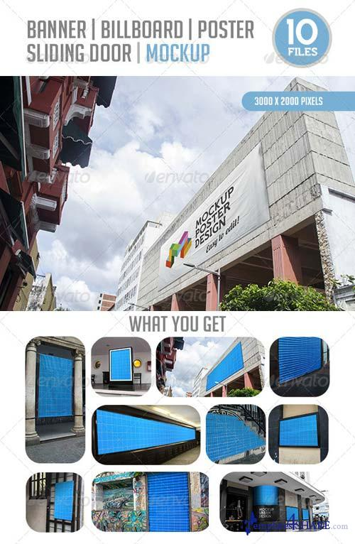 GraphicRiver 10 Urban Banner, Billboard, Poster and Sliding Doo