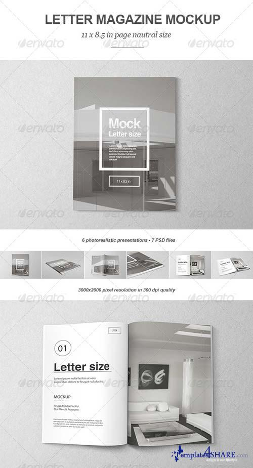 GraphicRiver Letter Magazine / Brochure Mock-up