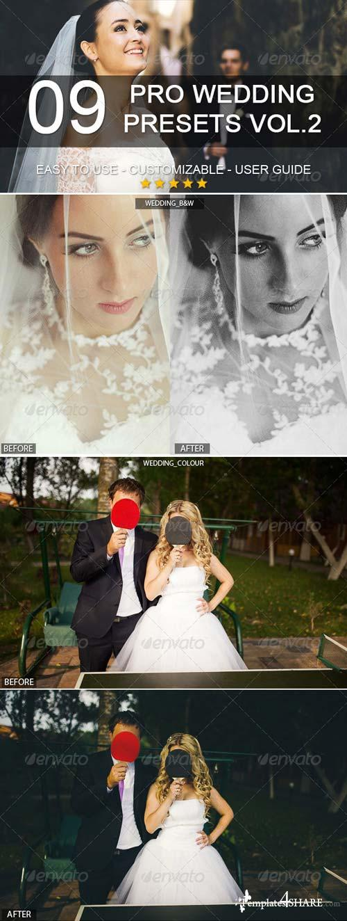 GraphicRiver 9 Pro Wedding Presets vol.2