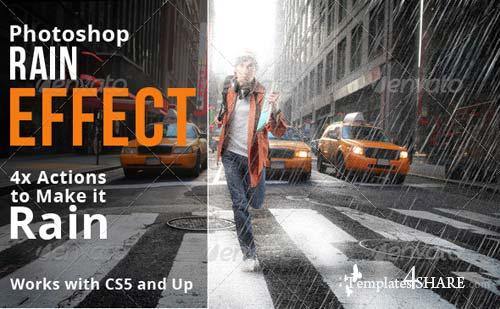 GraphicRiver Rain Effect Photoshop Actions