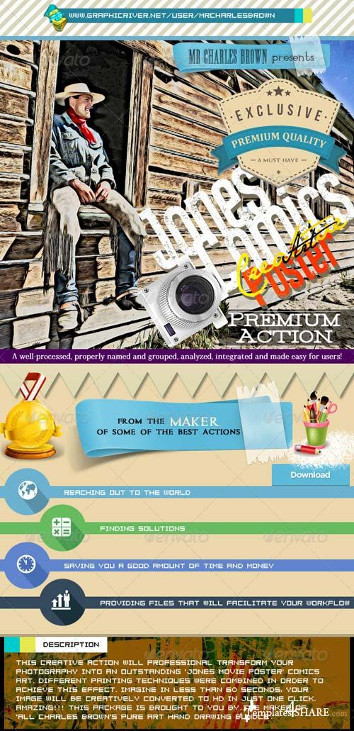 GraphicRiver Jones Comics Poster HD
