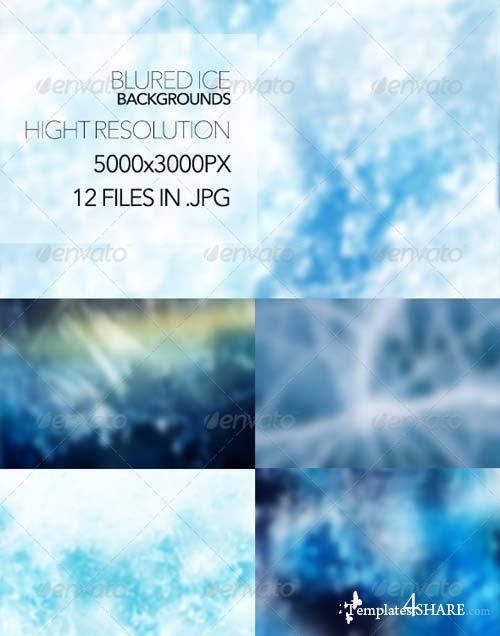 GraphicRiver Blured Ice Backgrounds