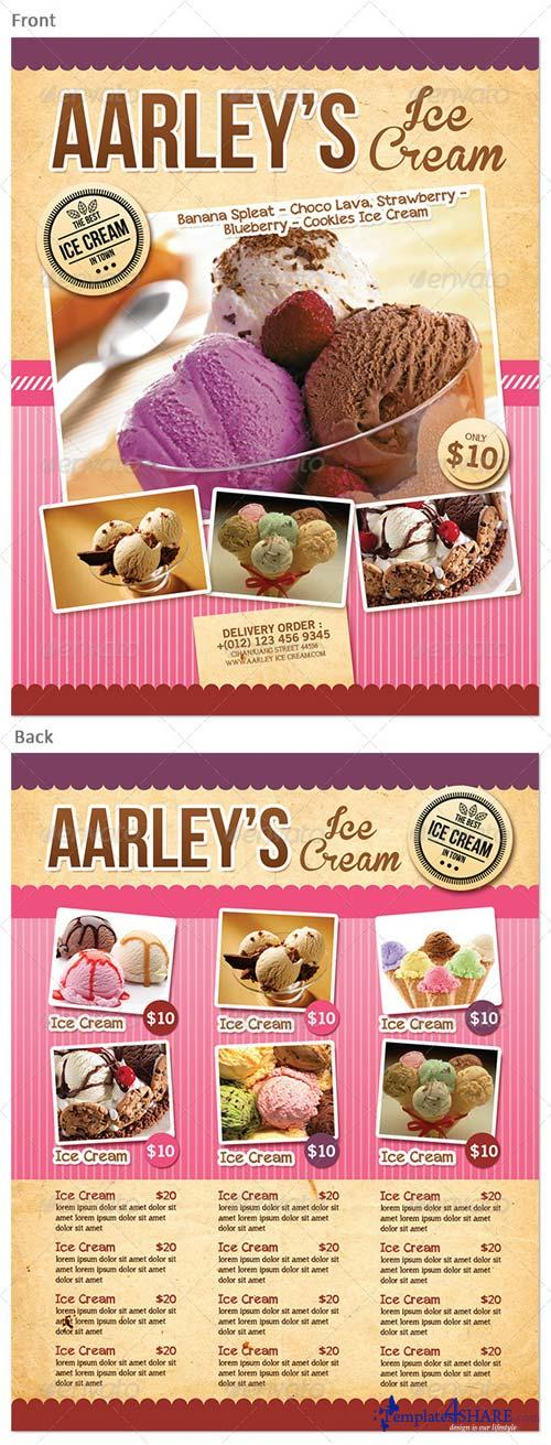 GraphicRiver Ice Cream Menu Flyer