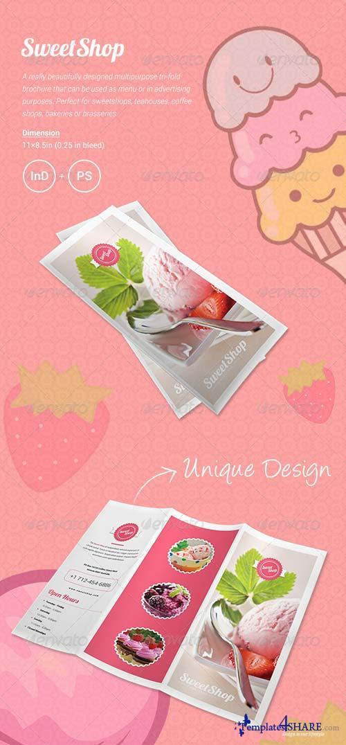 GraphicRiver Sweet Shop Menu Tri-fold Brochure