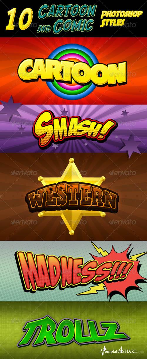 GraphicRiver Cartoon and Comic Book Styles