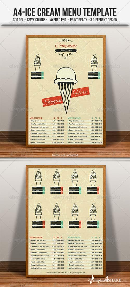 GraphicRiver Ice Cream Menu/Flyer Template