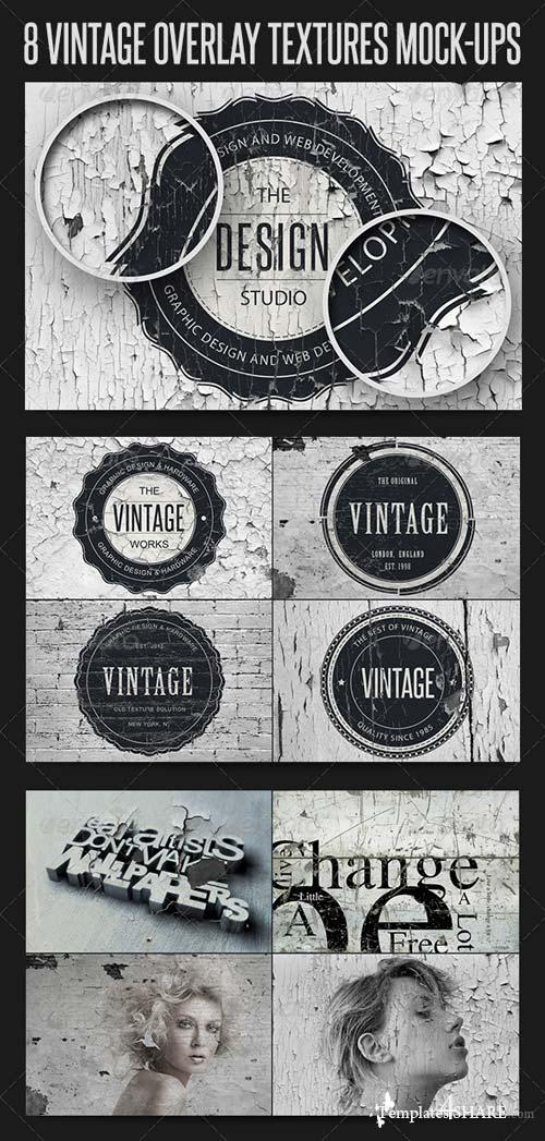 GraphicRiver 8 Vintage Overlay Textures Mock-Up
