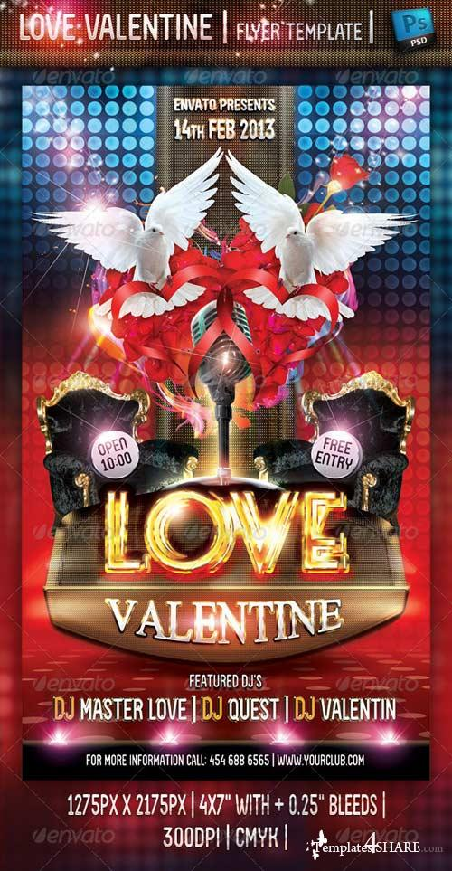 GraphicRiver Love Valentine Flyer Template