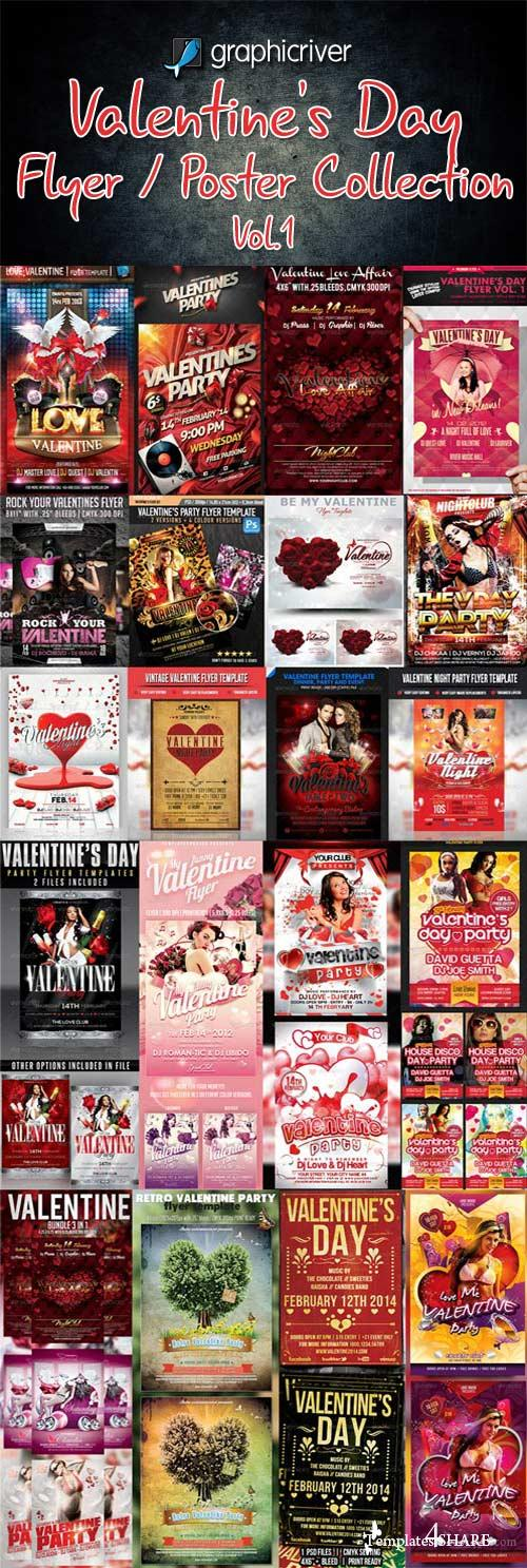 GraphicRiver Valentine's Day Flyer Templates Collection - Vol.1