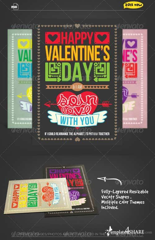 GraphicRiver Valentine Card - So in Love Typography