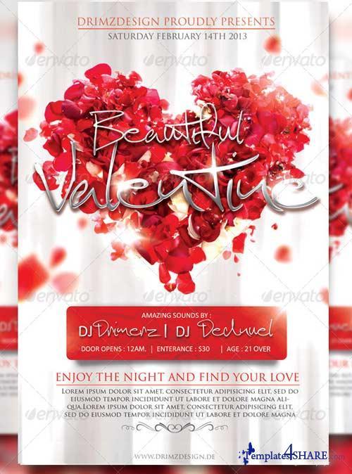 GraphicRiver Beautiful Valentine Flyer