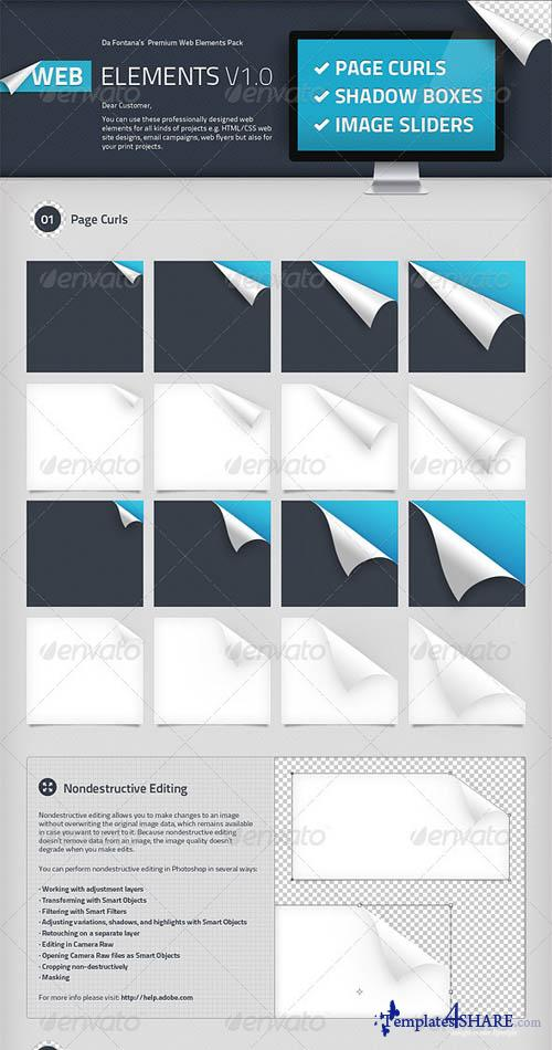 GraphicRiver Page Curls, Shadow Boxes, Image Sliders Elements