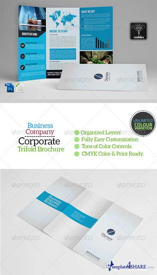 GraphicRiver A4 Trifold Business Brochure Template Vol01