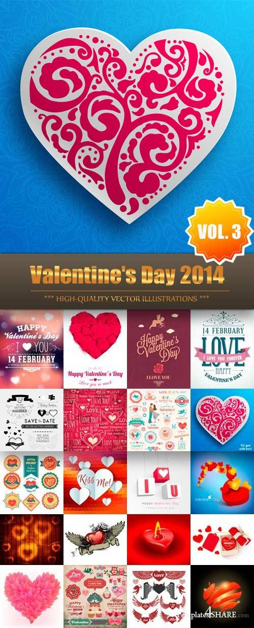 Valentine's Day 2014 Vector Collection (Vol.3)