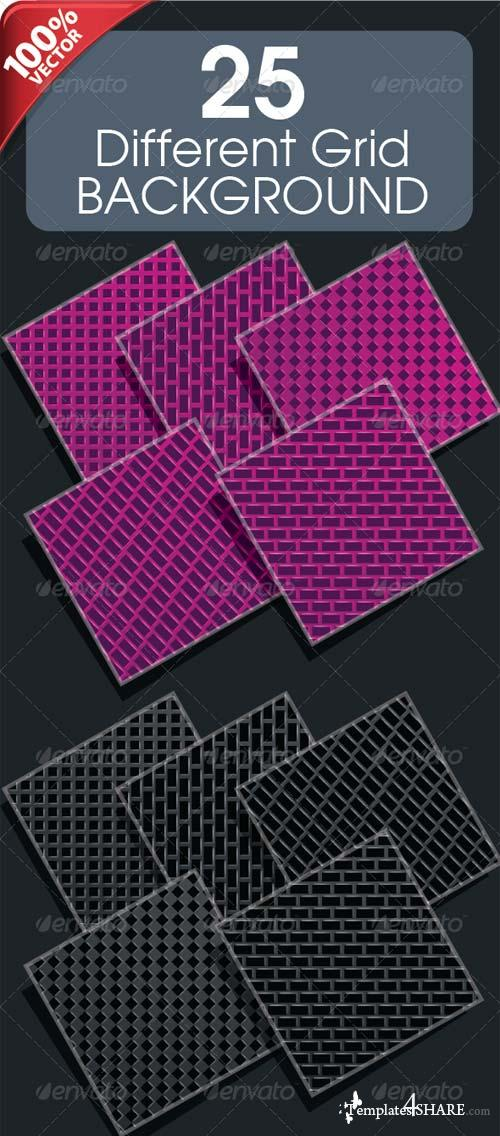 GraphicRiver 25 Different Grid Background