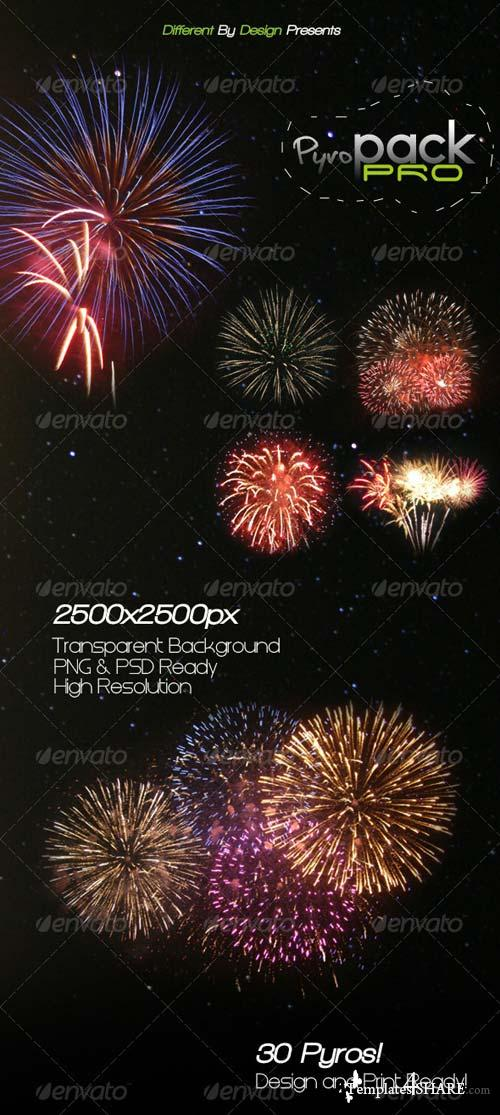 GraphicRiver DBD | PyroPack PRO - 30 Transparent Firework Pyros