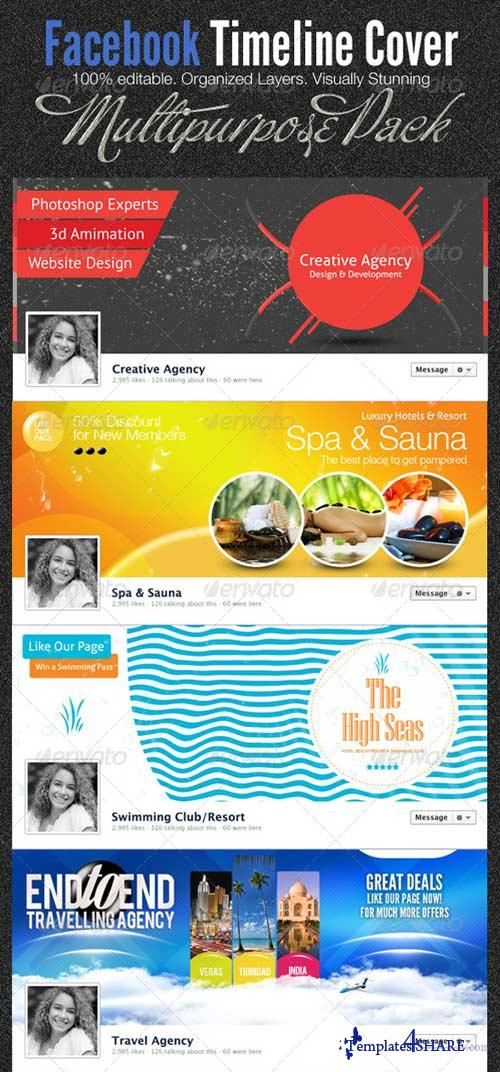 GraphicRiver 11 in 1 Mega Facebook Timeline Cover Templates