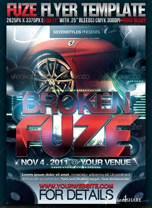 GraphicRiver Fuze Flyer Template