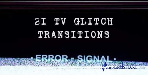 Tv Glitch Transitions - After Effects Motion Graphics (Videohive)