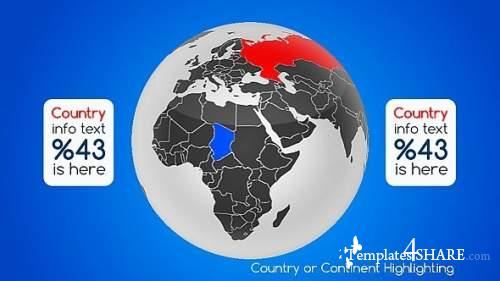 Real World Map Country Highlighter - After Effects Project (Videohive)