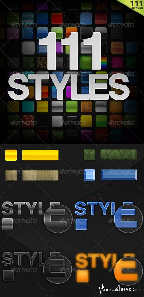 GraphicRiver 100 Photoshop Styles