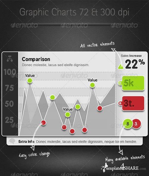 GraphicRiver Graphic Charts Elements II - 72 & 300 DPI