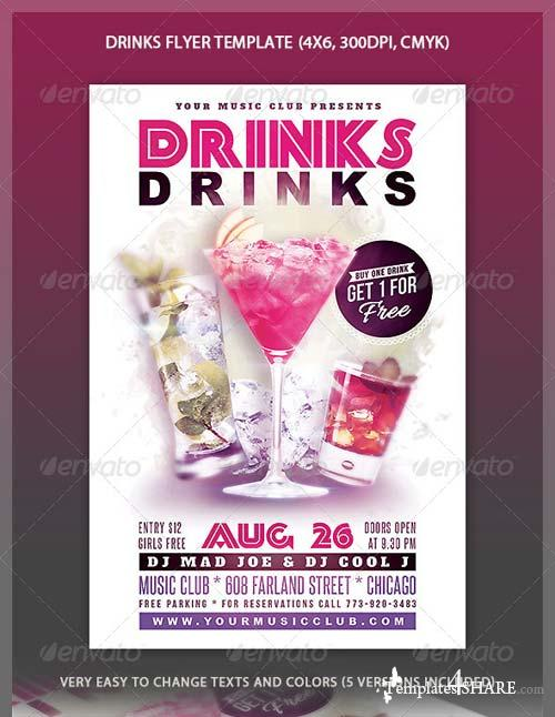 GraphicRiver Drinks Flyer Template