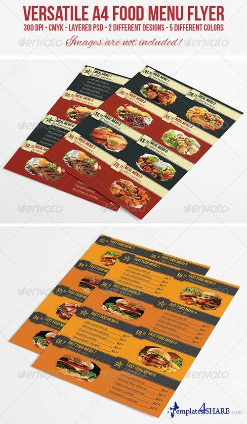 GraphicRiver A4 Food Menu / Flyer