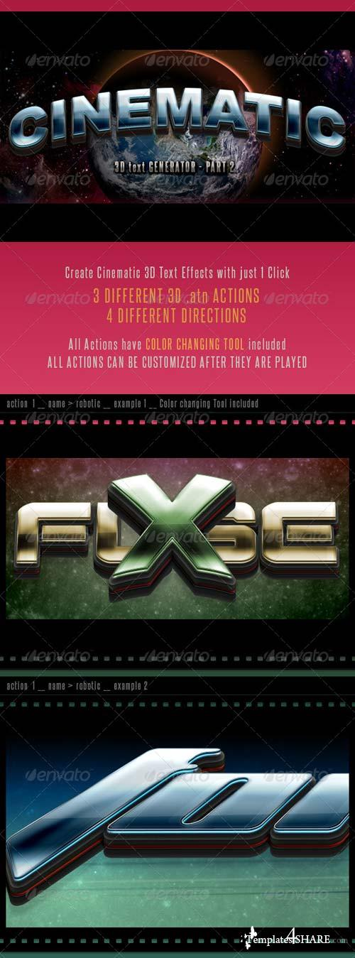 GraphicRiver 3D Cinematic Text Generator 2 - Actions