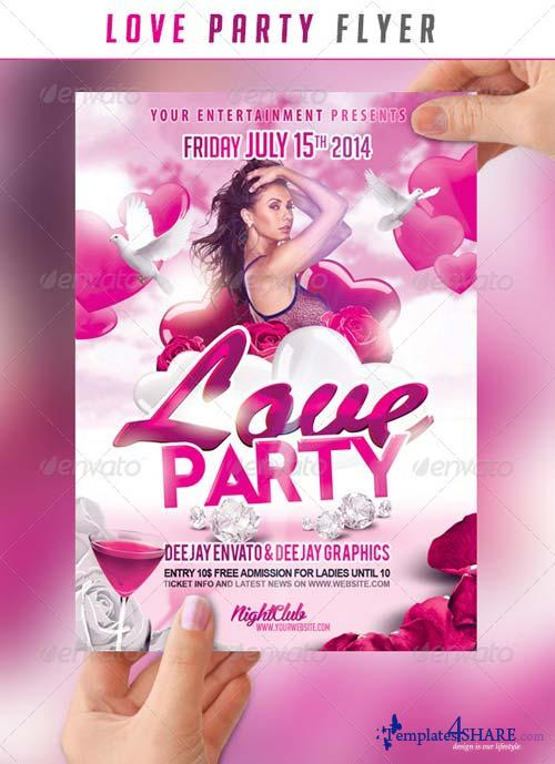 GraphicRiver Love Party Flyer
