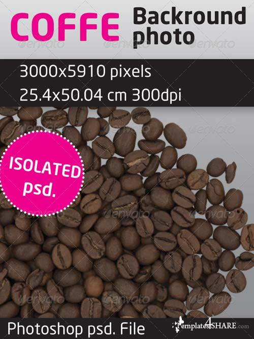 GraphicRiver Coffee Beans Isolated Backround