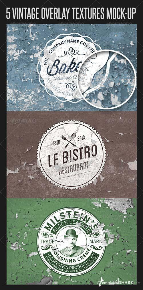 GraphicRiver 5 Vintage Overlay Mock-up