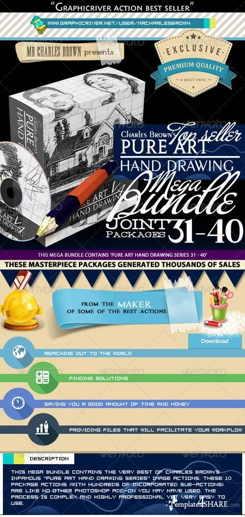 GraphicRiver All Charles Brown's Pure Art Hand Drawing Bundle 4