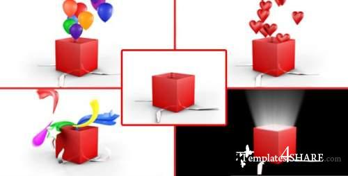 Gift Box Opening Pack - After Effects Motion Graphics (Videohive)