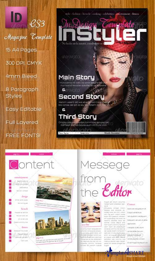 GraphicRiver InStyler - InDesign A4 Magazine