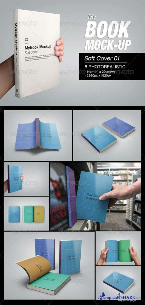 GraphicRiver MyBook Mock-up - Soft Cover 01
