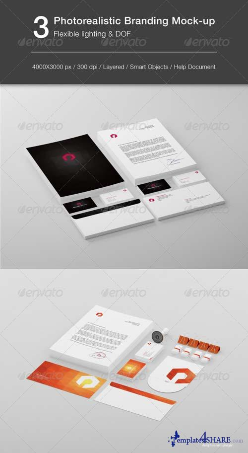 GraphicRiver Flexible Lighting Stationery Mock-up