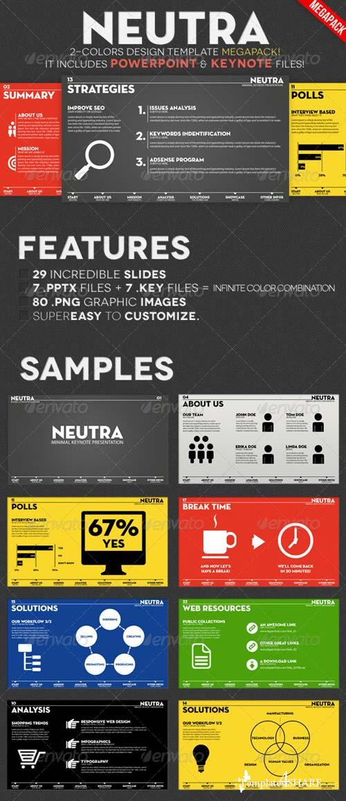 GraphicRiver Neutra - Two Colors PowerPoint & Keynote Pack
