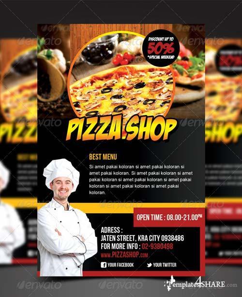 GraphicRiver Pizza Shop Flyer