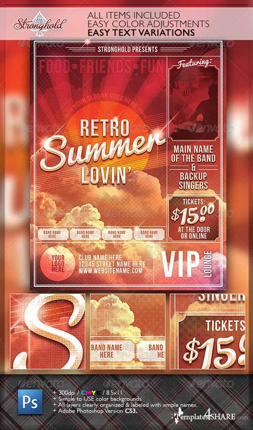 GraphicRiver Summer Lovin' Retro Flyer Template