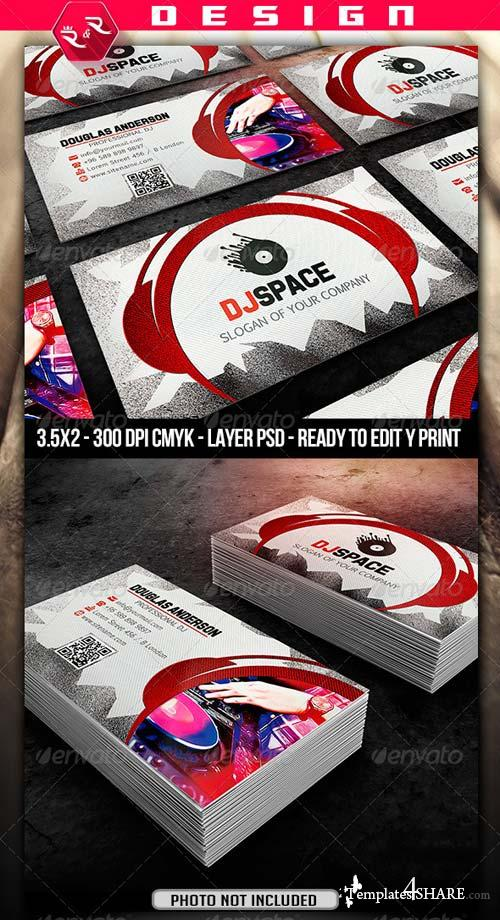 GraphicRiver DJ Business Card Template