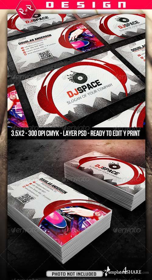 GraphicRiver DJ Business Card Template