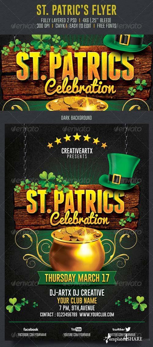 GraphicRiver St. Patrick's Celebration Flyer