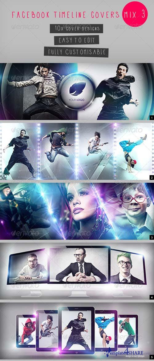 GraphicRiver Facebook Timeline Covers Mix 3