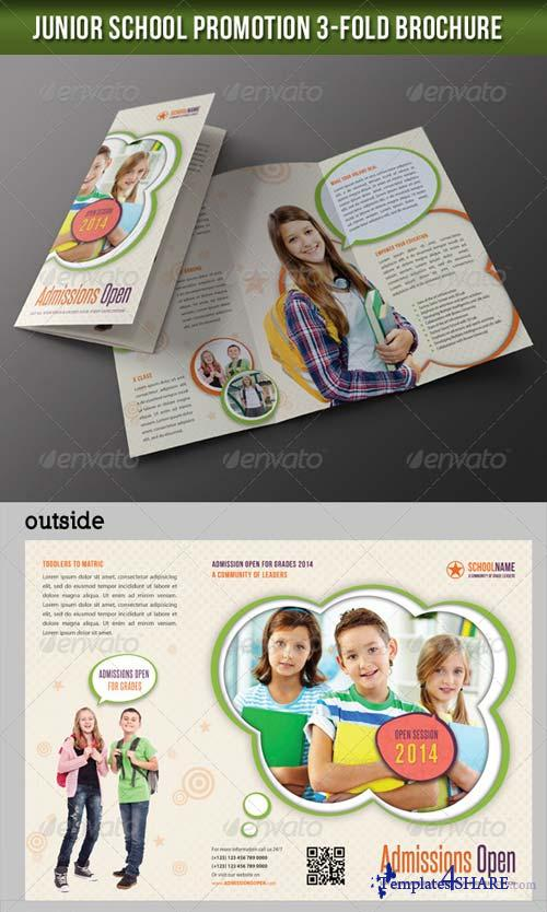 GraphicRiver Junior School Promotion 3-Fold Brochure 02