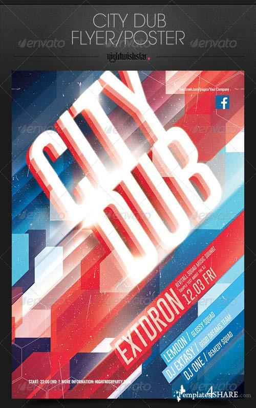 GraphicRiver City Dub Party Poster/Flyer