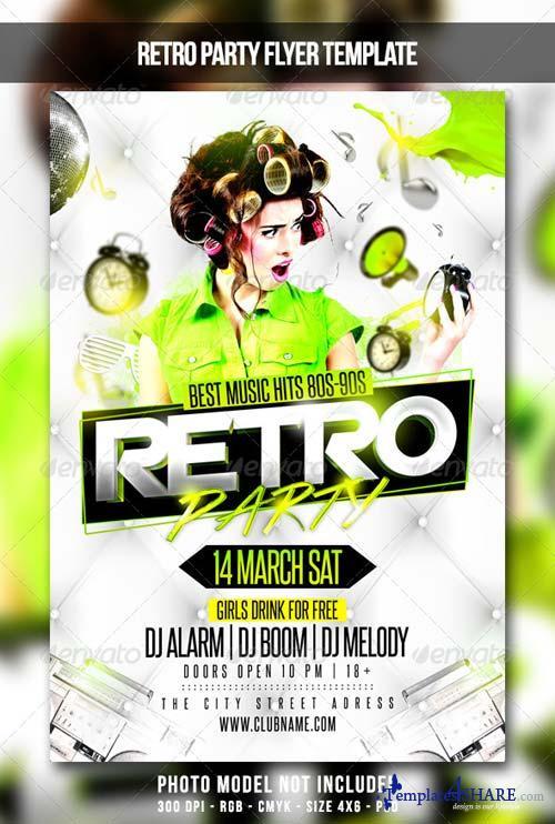 GraphicRiver Retro Party Flyer 6901684