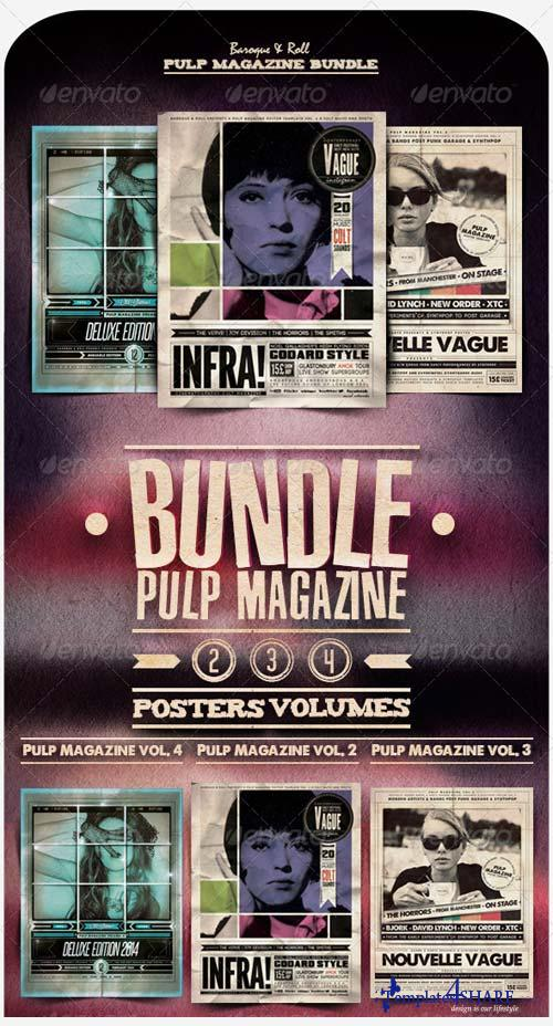 GraphicRiver Pulp Magazine Bundle